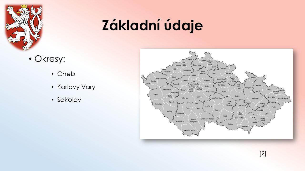 Základní údaje Okresy: Cheb Karlovy Vary Sokolov [2]